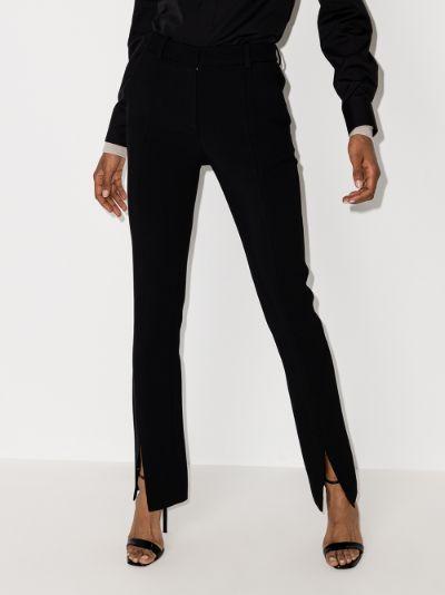 front split tuxedo trousers