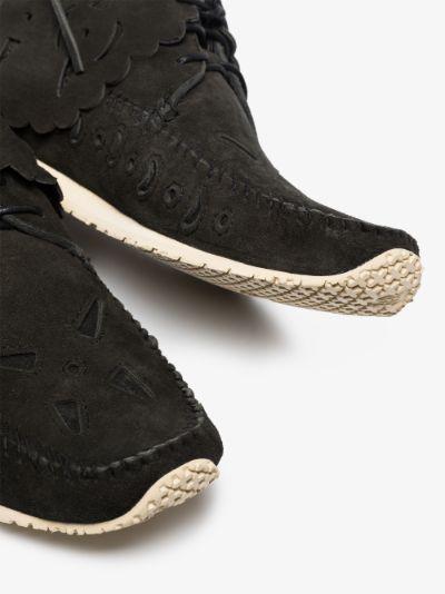 black FBT Bearfoot Folk suede boots