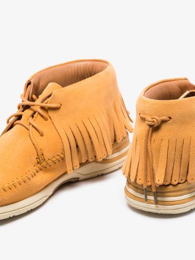brown FBT Shaman-folk suede desert boots