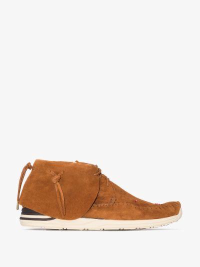 brown Lhamo Folk suede boots