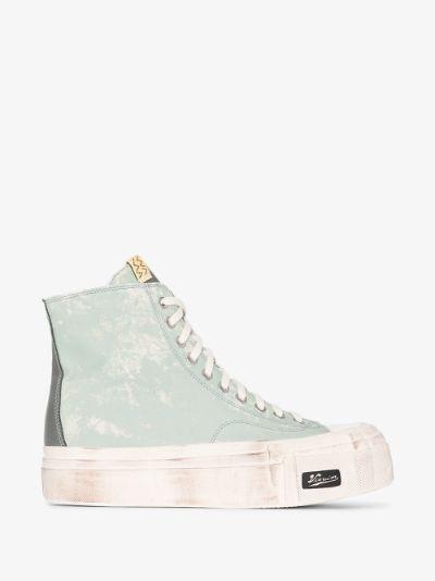 Green Skagway G. Hi patten sneakers