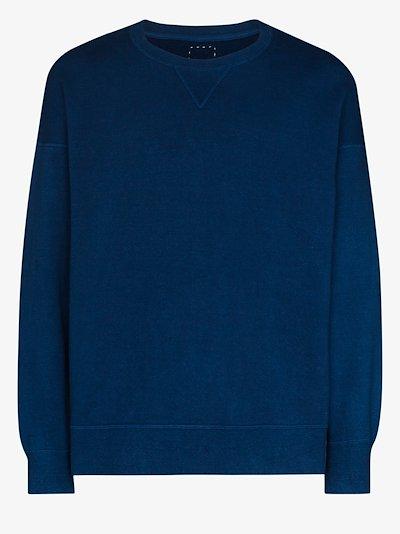 jumbo crew cotton sweatshirt