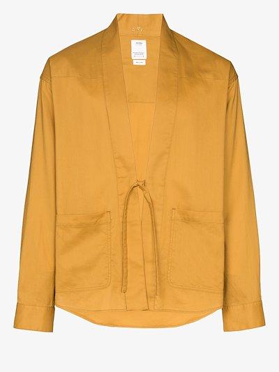 Lhamo tie-front cotton shirt