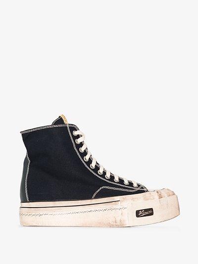 navy skagway hi G.pattern sneakers