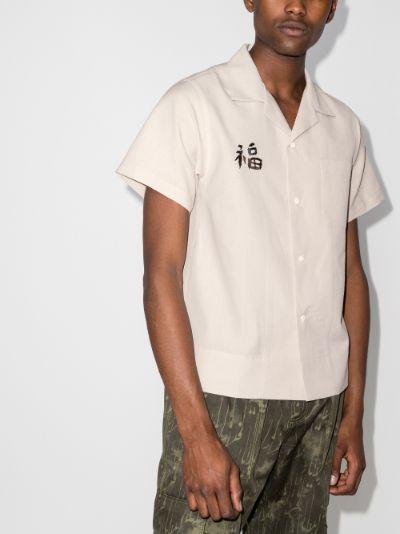 Sanko graphic motif shirt