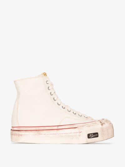 white skagway hi G.pattern sneakers