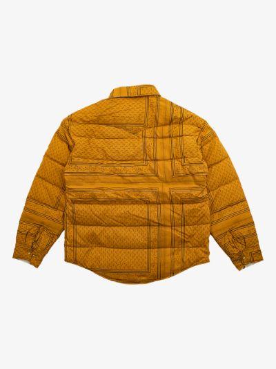 X F.I.L. Indigo Camping Trading Post Kerchief down shirt jacket