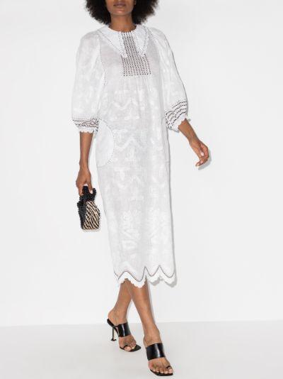addicted to love linen midi dress