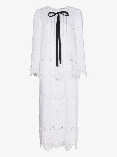 Avalon Broderie Anglaise Midi Dress