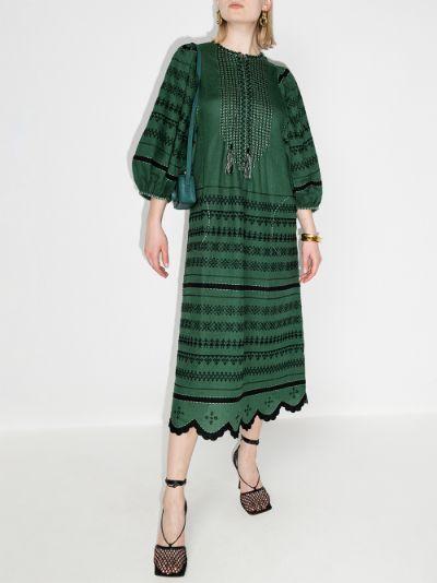 Belarus Embroidered Linen Dress