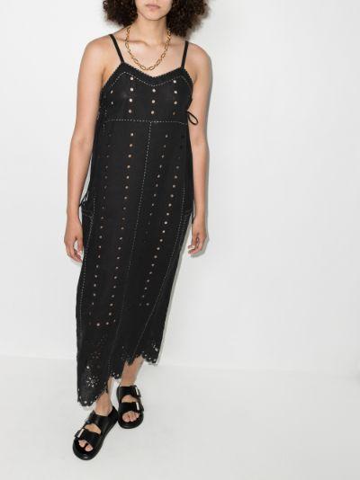 Charlie embroidered linen dress