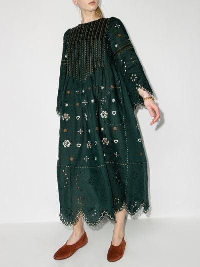 Jacqueline embroidered linen dress
