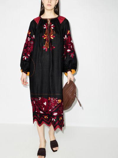 Kasia Embroidered Linen Dress