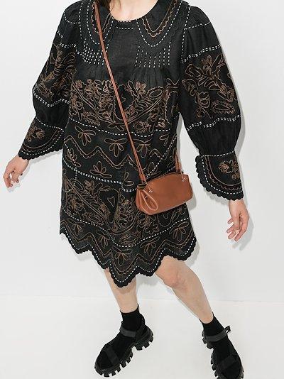 Mirela embroidered linen dress