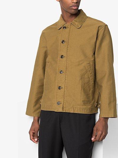 A-2 Deck graphic print cotton jacket