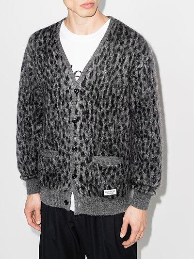 leopard print knit cardigan