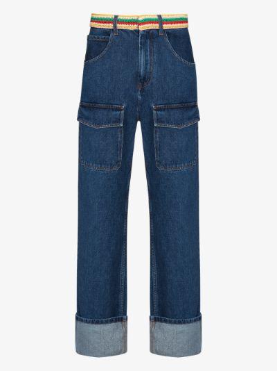 Brixton crochet waist straight leg jeans