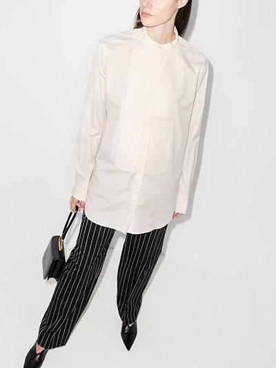 Gladstone pleated bib shirt