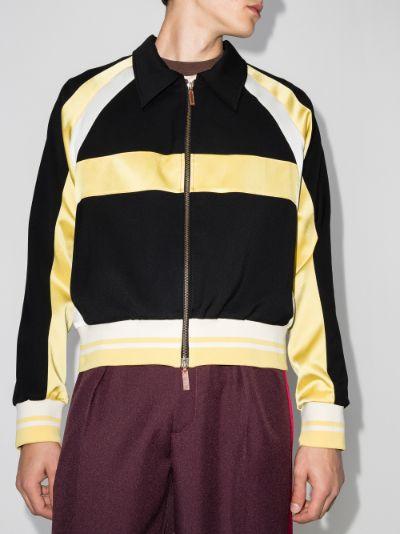 Isaacs panelled bomber jacket