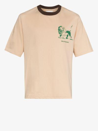 Johnson Badge print organic cotton T-shirt