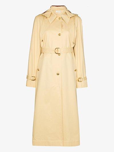 Lloyd hooded trench coat