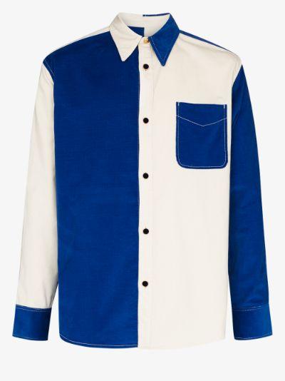 Montego colour block cotton shirt