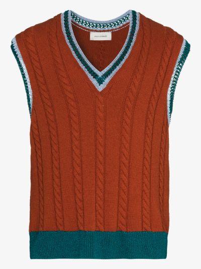 Parish cable knit sweater vest