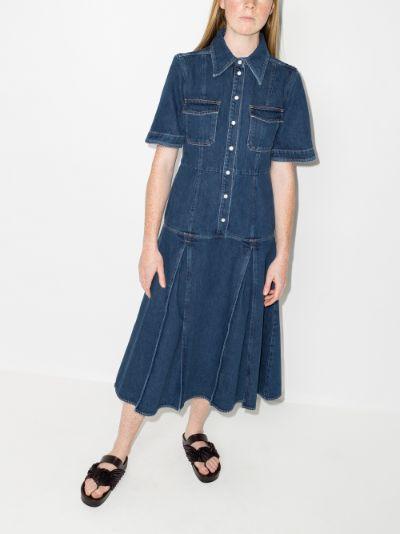 Saint Catherine Denim Shirt Dress