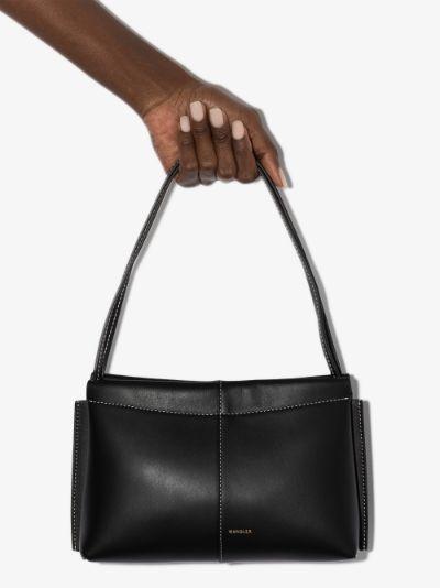 black Carly mini leather shoulder bag