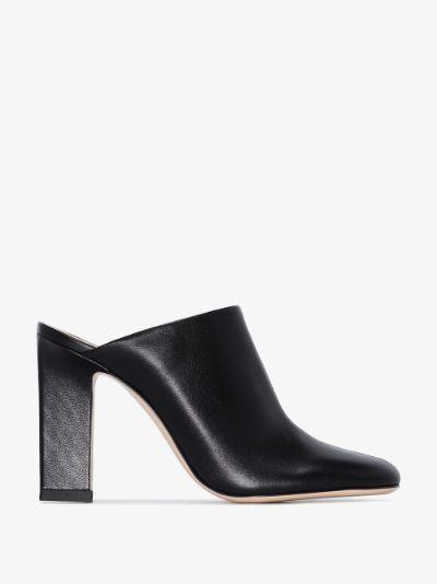 black Casta 100 leather mules