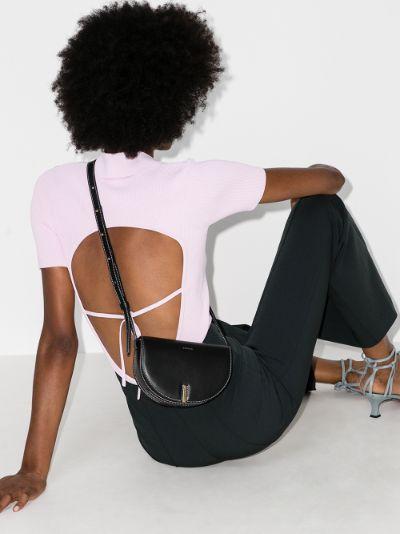 black Nana leather cross body bag