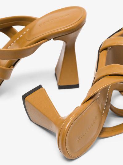 Brown Lara 85 leather sandals
