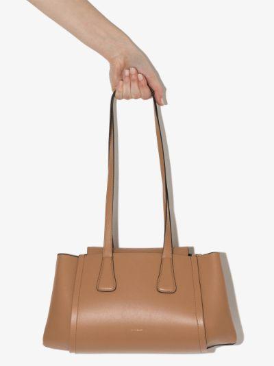Brown Lara leather shoulder bag