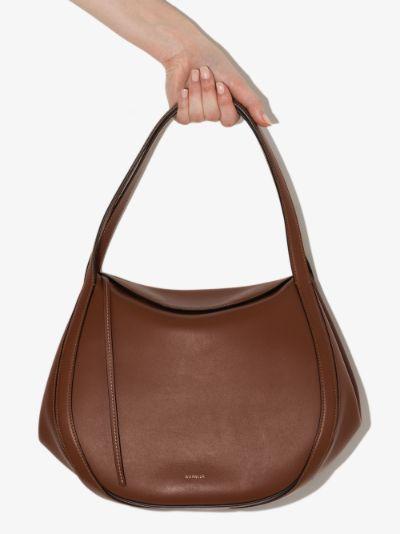 brown Lin leather shoulder bag