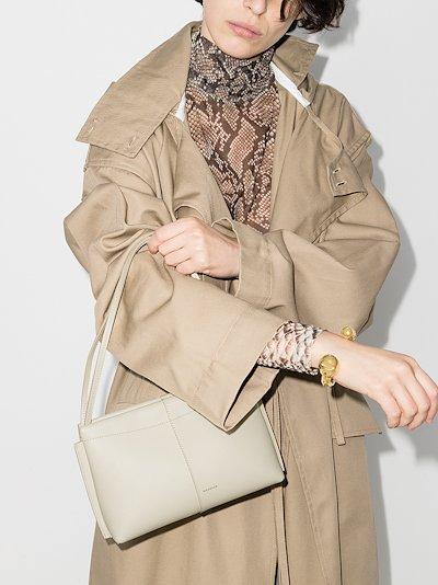 Cream Carly mini Leather Shoulder Bag