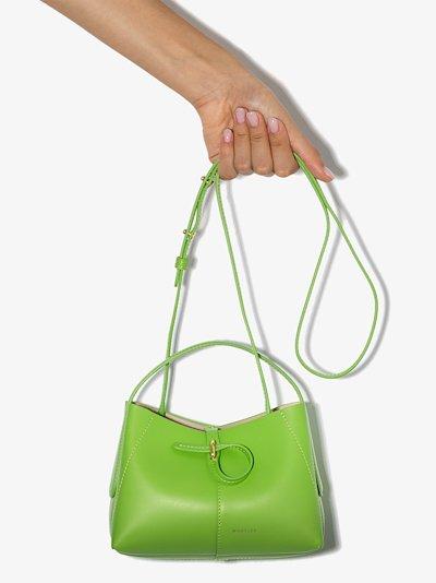 Green Ava leather mini bag