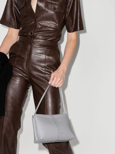grey Carly mini leather shoulder bag