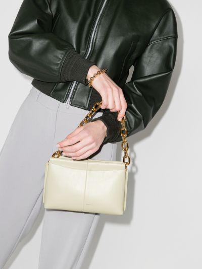 Neutral Carly mini leather shoulder bag