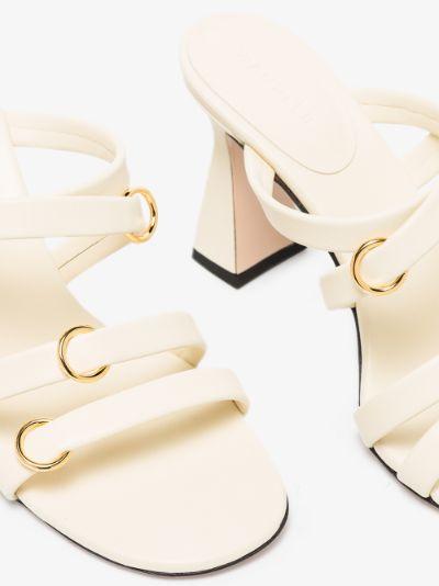 neutral Lara 85 leather sandals