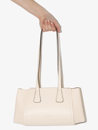 Neutral Lara leather shoulder bag