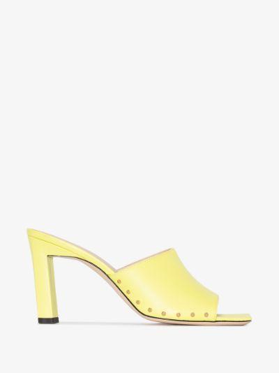 Yellow Nana 85 Leather Mules