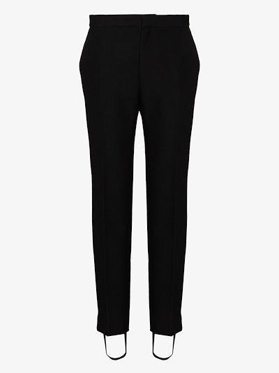 stirrup wool tuxedo trousers