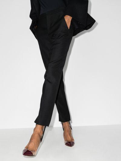 X Browns 50 stirrup wool tuxedo trousers