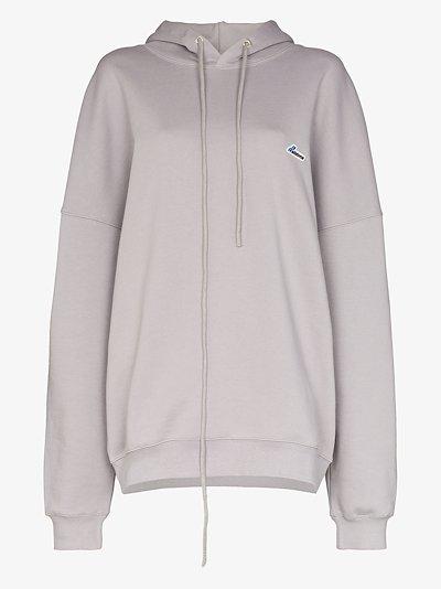 appliqué logo patch hoodie