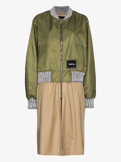 bomber trench coat