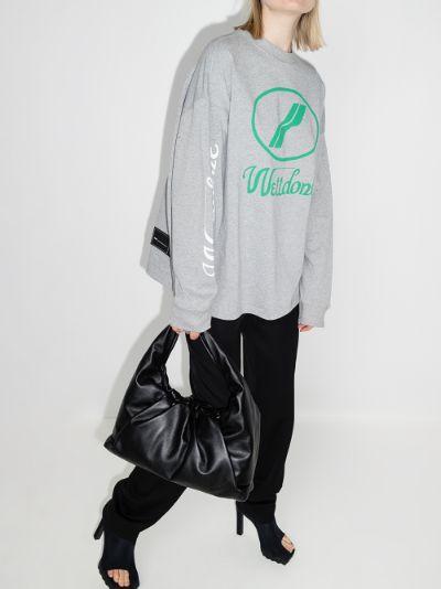 oversized logo print sweatshirt