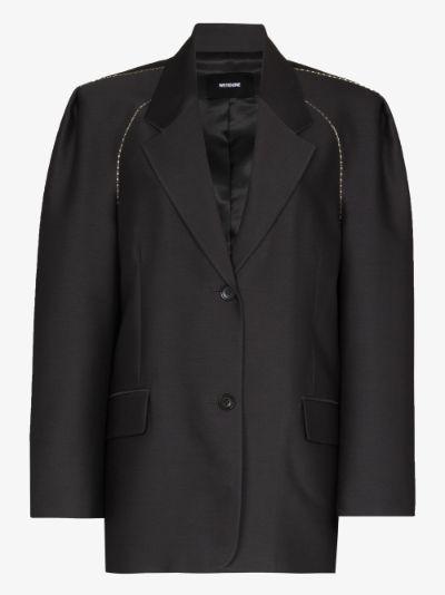 single-breasted embellished wool blazer