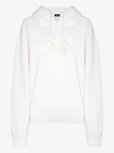 teddy print hoodie