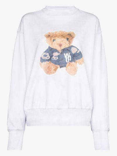Teddy print sweatshirt
