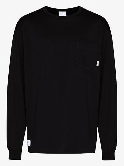 blank logo cotton sweatshirt